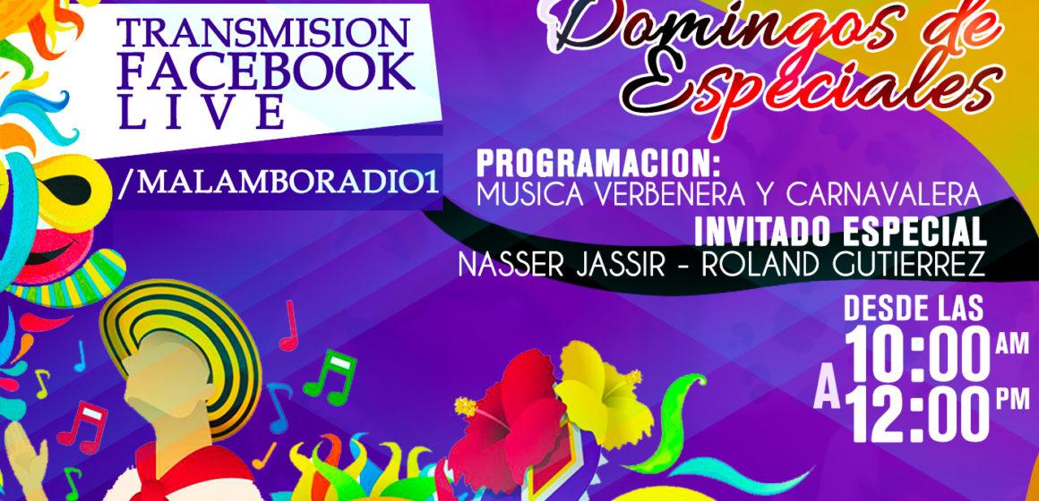 Hoy desde las 10:00 Am Gran especial de #Musica de #Carnaval y #Verbernera te esperamos en nuestra transmisión por #FacebookLive.