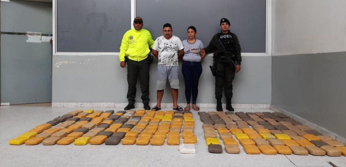 Hallan 95 kilos de marihuana y uno de cocaína en una vivienda del barrio Santa María