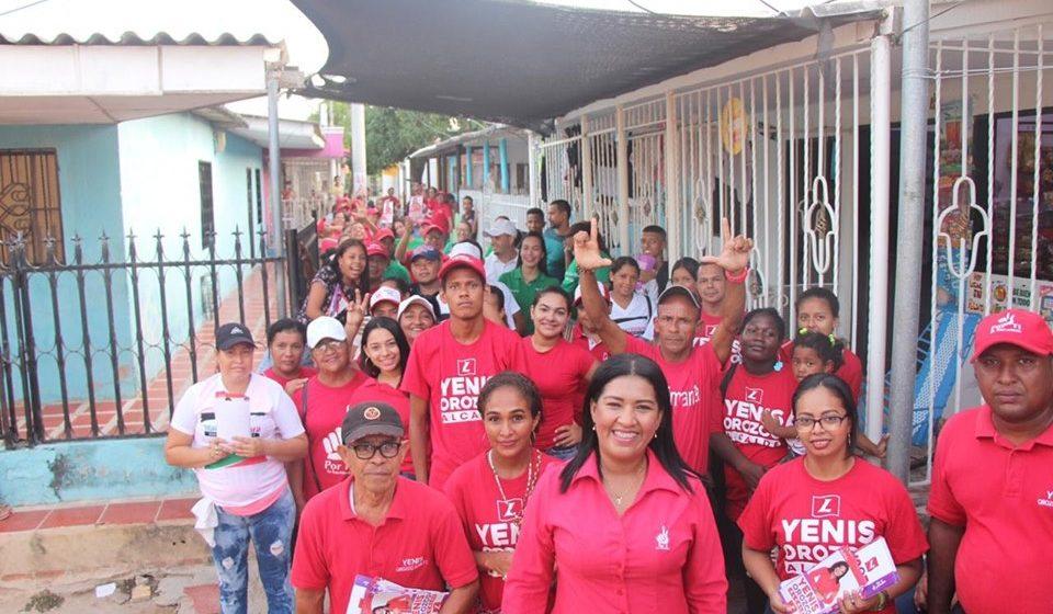 Yenis Orozco Bonett en el barrio Centro de Malambo.