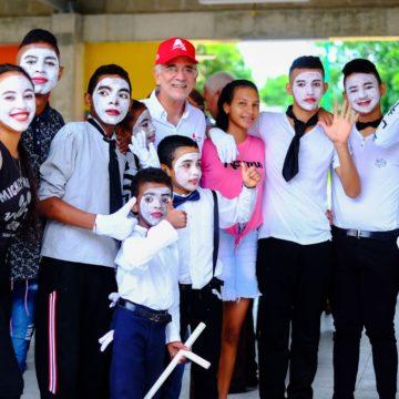 #AtlánticoLíderEnObras: Nuevas infraestructuras de colegios del Atlántico motivan creatividad de estudiantes