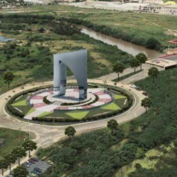 'La Aleta de Tiburón' quedará en la glorieta ubicada cerca del puente batiente, en la Avenida del Río