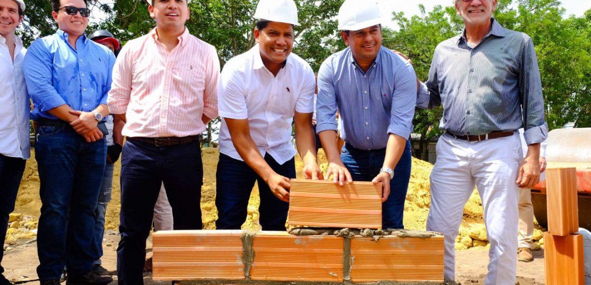 Gobernador y minvivienda colocaron la primera piedra en la Urbanización Las Camelias del municipio de Malambo