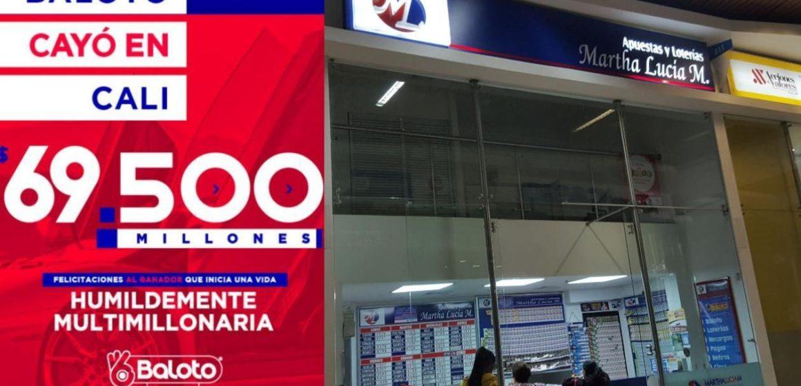 Baloto cayó en Cali: nuevo millonario ganó 69.500 millones de pesos