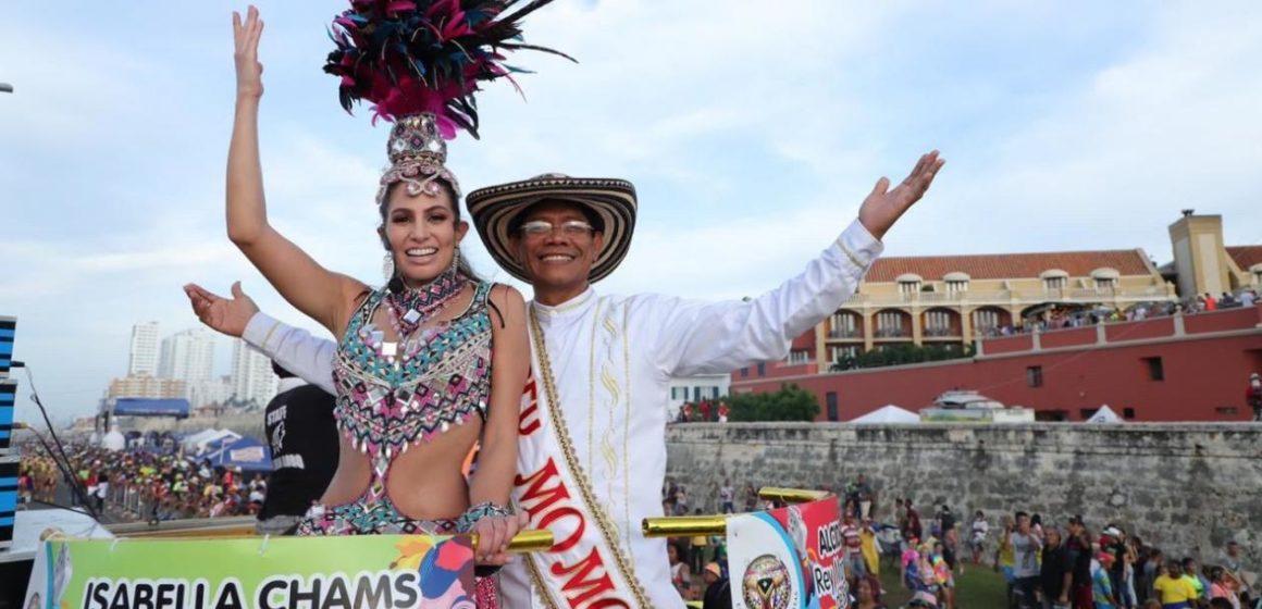 Los Reyes del Carnaval de Barranquilla 2020 conquistaron con su alegría a Cartagena