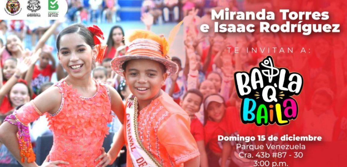 Reyes del Carnaval de los Niños llevan 'Baila Q Baila' al Parque Venezuela
