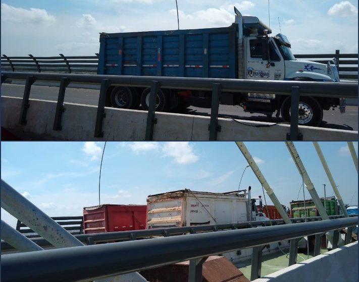 928 toneladas fue la última prueba de resistencia para tramo atirantado del nuevo Puente Pumarejo