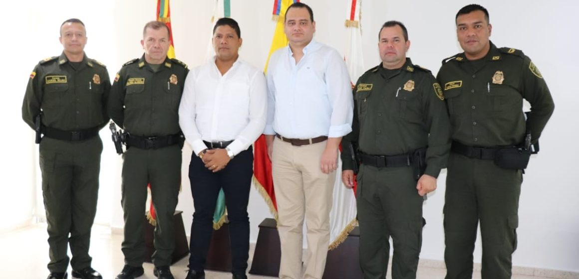 Comandante de la Policía Mebar y el Alcalde Monsalve establecen ruta de trabajo para mejorar la seguridad de Malambo