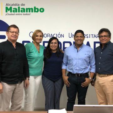 Alcalde Rumenigge Monsalve establece acuerdo con la Universidad Reformada para traer educación superior a Malambo