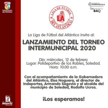 Este miércoles se realizará el lanzamiento del Torneo Intrermunicipal  de Fútbol en Soledad