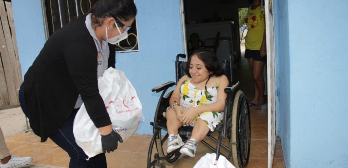 Inician las entregas de ayudas enviadas por la Primera Dama de la Nación a población en condición de discapacidad en Malambo