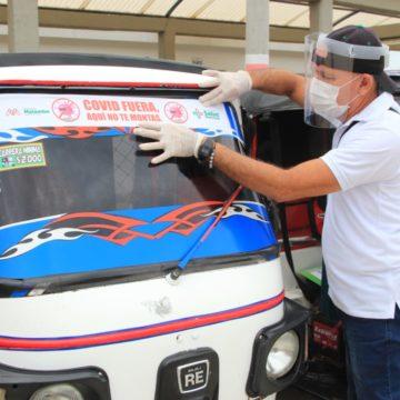 Alcaldía de Malambo desarrolla primera jornada de sensibilización y caracterización dirigida a conductores de motos y motocarros para prevención del Covid-19 en Malambo