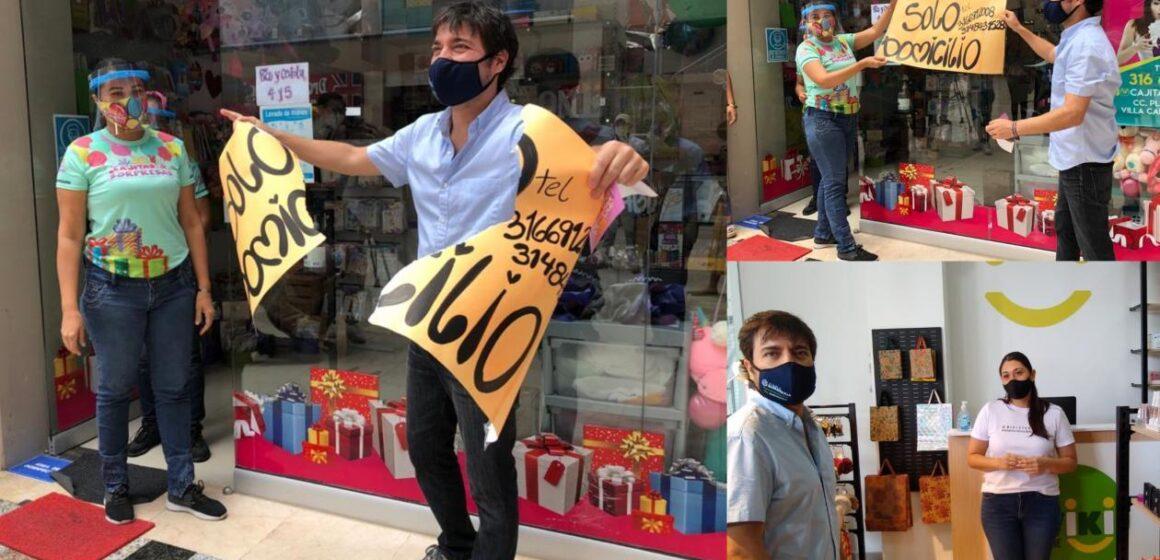 Rompiendo aviso de domicilios, Alcalde dio reapertura al comercio en localidad Riomar