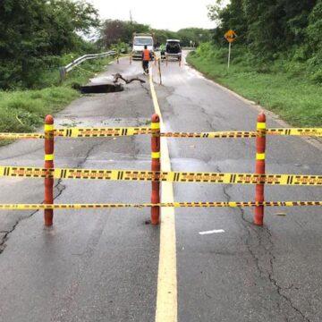 Por socavación, Tránsito del Atlántico autorizó el cierre de la vía Juan de Acosta – Piojó