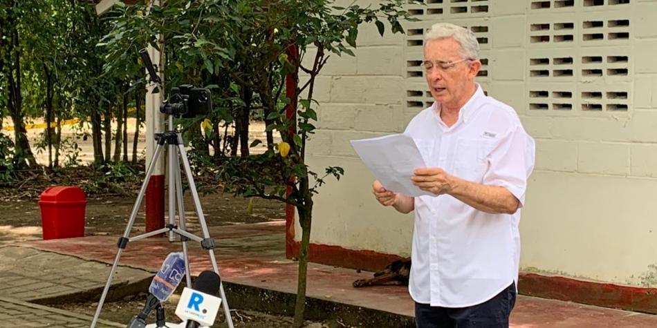 Las 5 frases de Uribe en su regreso a la libertad