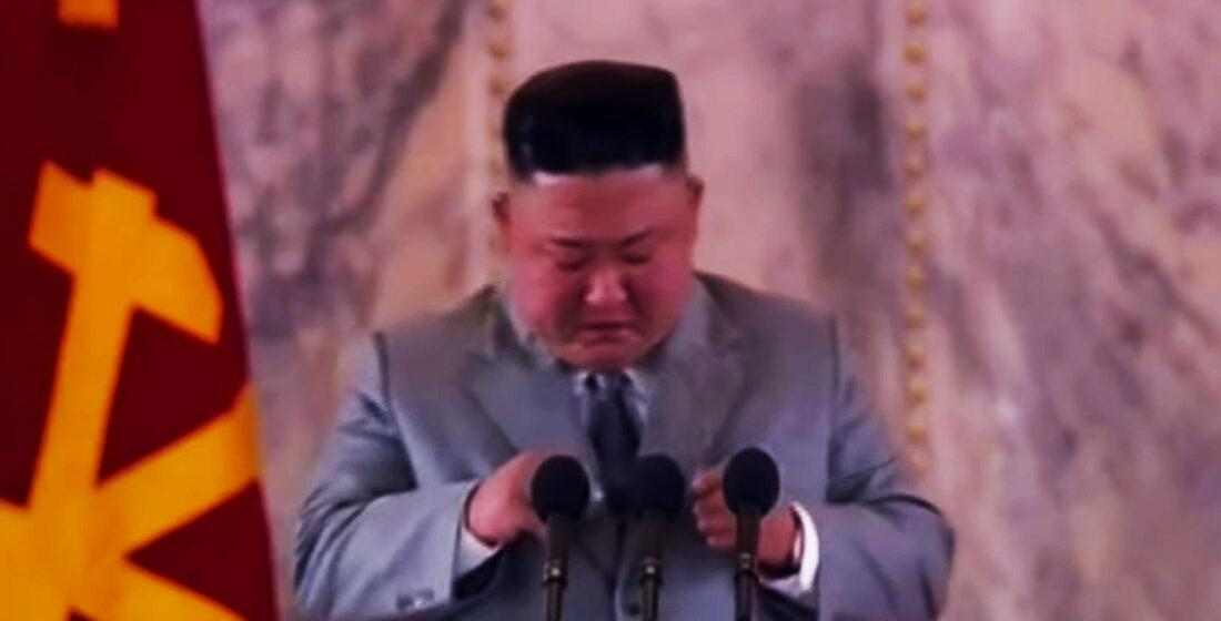 Kim Jong-un lloró en público en un intento de mostrarse más humano