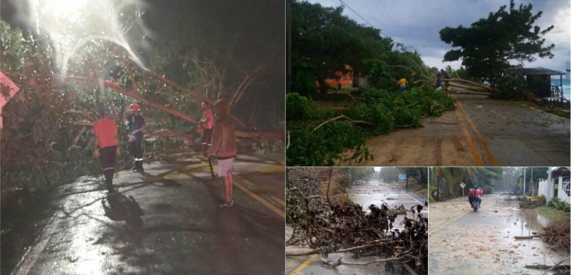 Eta arraza con lluvias y fuertes vientos en San Andres