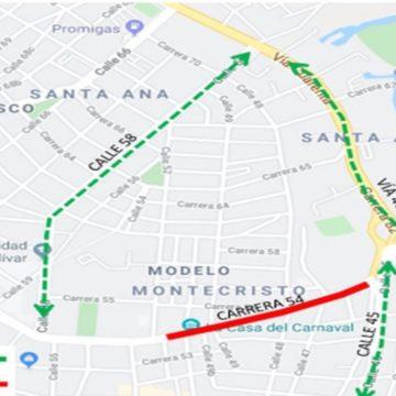 Cierres viales por Viernes de Reina y Maratón de Barranquilla
