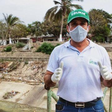 Edumas inició trabajos de limpieza en el arroyo El Platanal