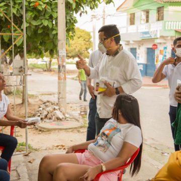 Alcalde Óscar Pantoja y gobernadora Elsa Noguera realizan campaña de sensibilización en barrios que registran más casos de coronavirus en Malambo
