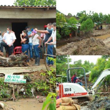 Aguacero en Sabanalarga dejó daños en residencias y familias damnificadas