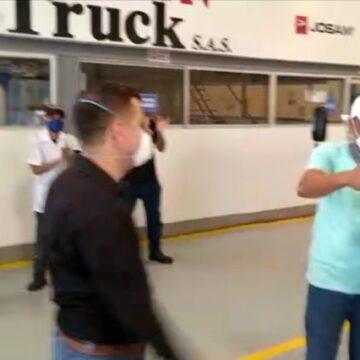 'Fue Dios quien empezó la obra para la reconstrucción del camión furgón a Edwin García'