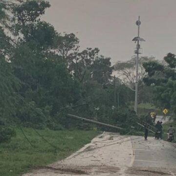 15 municipios del Atlántico afectados con energía por lluvias y fuertes vientos