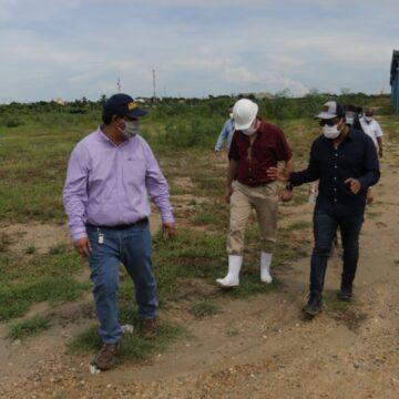 Alcalde inspecciona obra de la PTAR y estudia la realización de obras complementarias para su puesta en marcha
