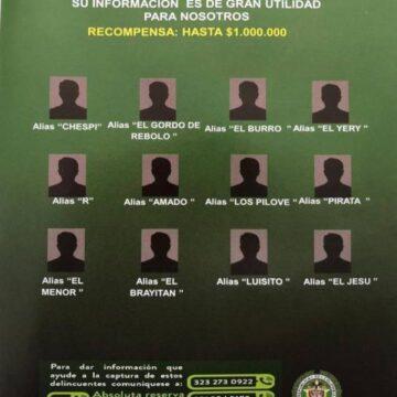 POLICIA METROPOLITANA DE BARRANQUILLA DIO A CONOCER LAS 85 PERSONAS MAS BUSCADAS.