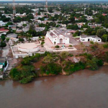 EN TENERIFE EL RIO MAGDALENA AMENAZA CON LLEVARSE LA IGLESIA DE SAN SEBASTIAN.